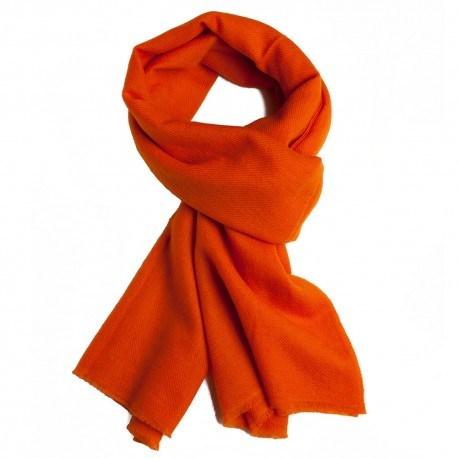 Orange twill vævet pashmina tørklæde
