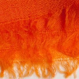 Orange pashmina sjal i lærredsvævning