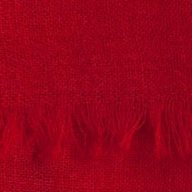 Mørkerødt pashmina sjal i lærredsvævning