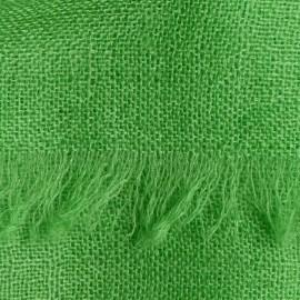 Græsgrønt pashmina sjal i lærredsvævning