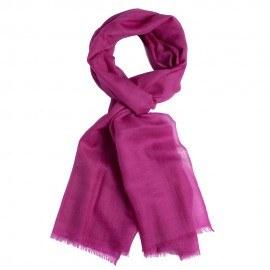 Violet pashmina sjal i 2 ply lærredsvævning