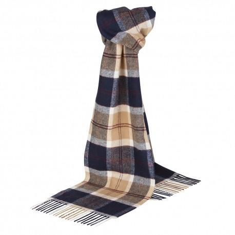 Image of   Mørkeblåt skotskternet tørklæde