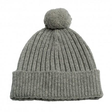 Image of   Grå strikket hue i cashmere