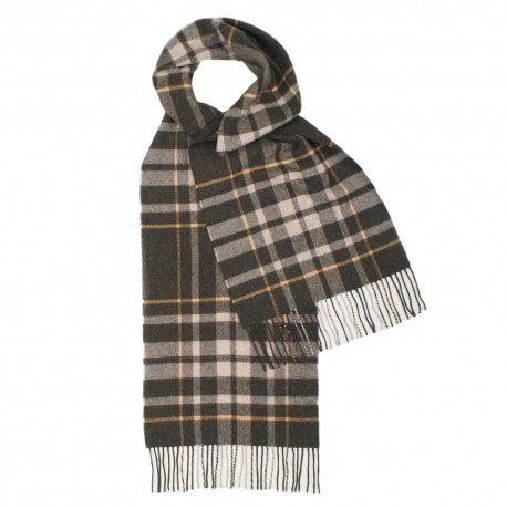 Image of   Gråt skotskternet tørklæde