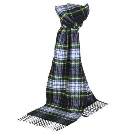Image of   Grønt skotskternet tørklæde