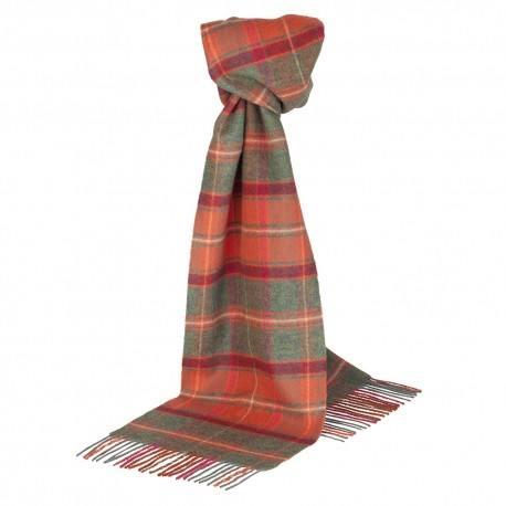 Image of   Cinnoberrødt skotskternet tørklæde