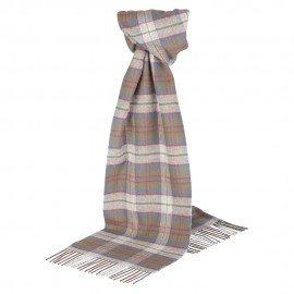 Sølvgråt skotskternet tørklæde
