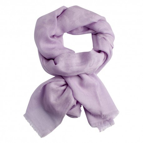 Lavendelfarvet jacquard vævet pashmina sjal