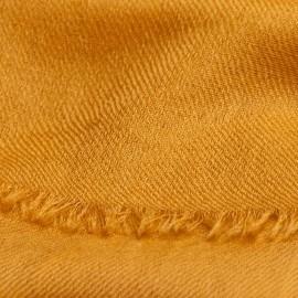 Mørk gyldent dobbeltrådet twill pashmina sjal