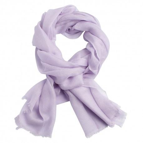 Image of   Lavendelfarvet dobbeltrådet twill pashmina sjal