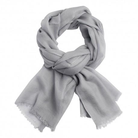 Image of   Lysegråt dobbeltrådet twill pashmina sjal