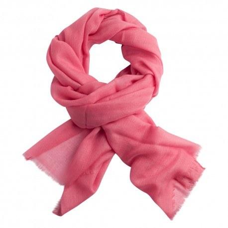 Image of   Lys rosa diamant vævet pashmina sjal