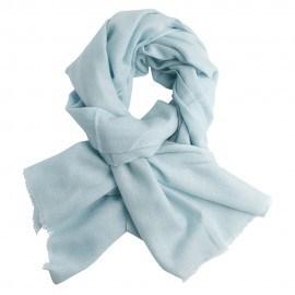 Twill vævet pashmina tørklæde i lys opalfarve