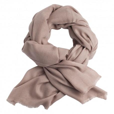 Image of   Gråbrunt twill vævet pashmina tørklæde