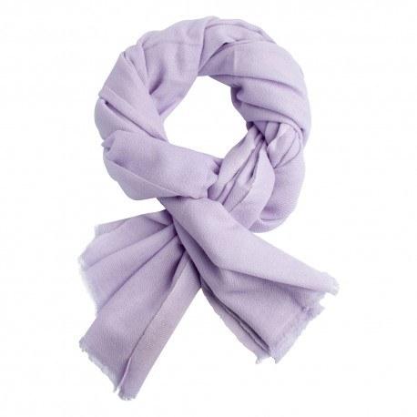 Image of   Lavendelfarvet twill vævet pashmina tørklæde
