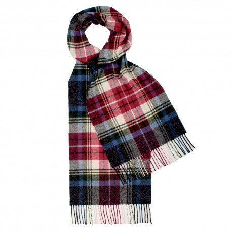Image of   Blåt og rødt skotskternet tørklæde