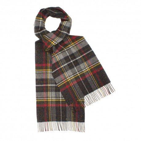 Mørkegråt skotskternet tørklæde