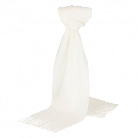 Råhvidt halstørklæde i lambswool