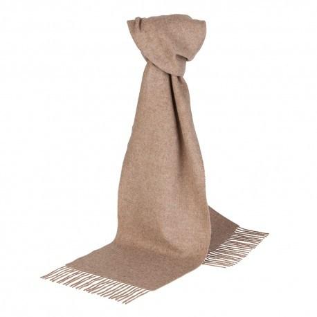 Image of   Beige halstørklæde i lambswool