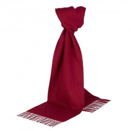 Vinrødt halstørklæde i lambswool
