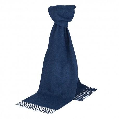 Image of   Mørkeblåt halstørklæde i lambswool