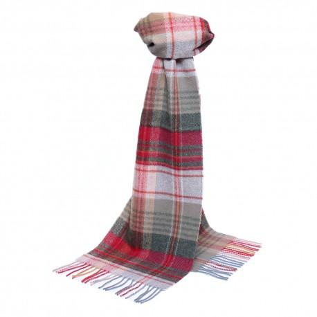 Image of   Lysegråt skotskternet tørklæde