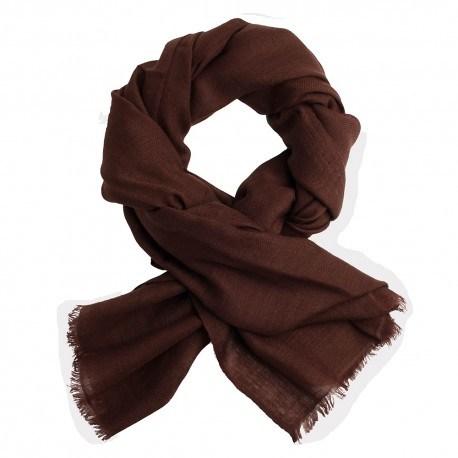 Sortbrunt diamant vævet pashmina sjal