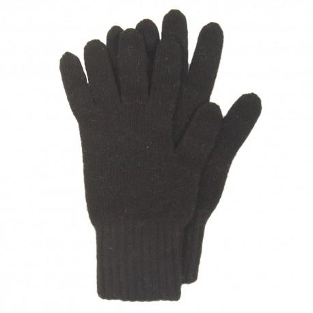 Sorte strikkede handsker i lambswool