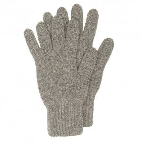 Image of   Grå strikkede handsker i lambswool