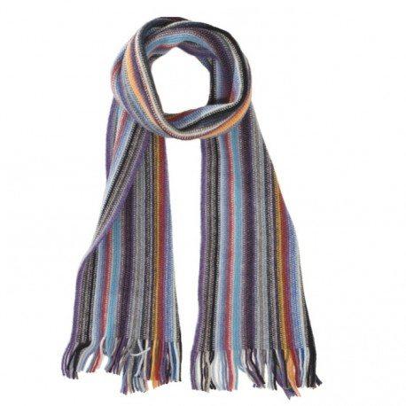 Stribet tørklæde i blandede farver
