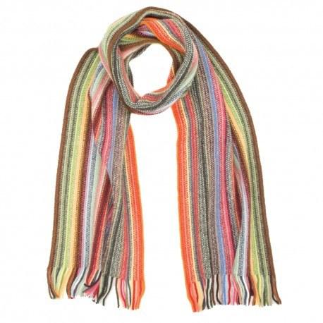 Image of   Multifarvet stribet tørklæde