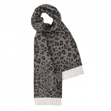 Image of   Mørkegråt halstørklæde med dyreprint