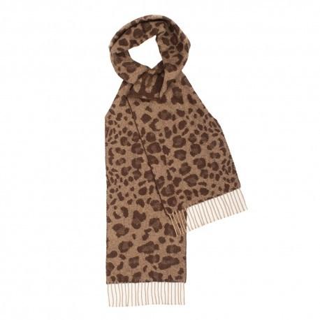 Image of   Brunt halstørklæde med dyreprint