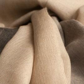 Trefarvet pashmina sjal i beige, grå og sort