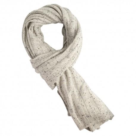 Hvidt nistret cashmere halstørklæde