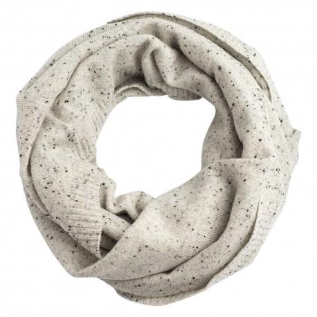 Hvidt nistret tubehalstørklæde i ren cashmere
