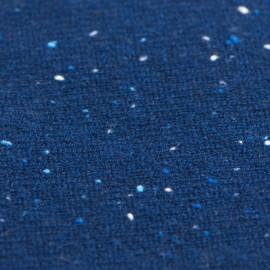 Blå nistret halsvarmer i cashmerestrik