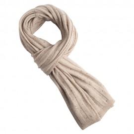 Beige halstørklæde med nister i ren cashmere