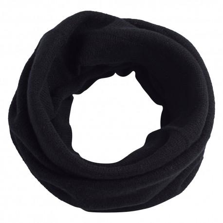Sort tubehalstørklæde i ren cashmere
