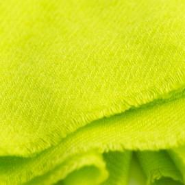 Limegrønt twill vævet pashmina tørklæde