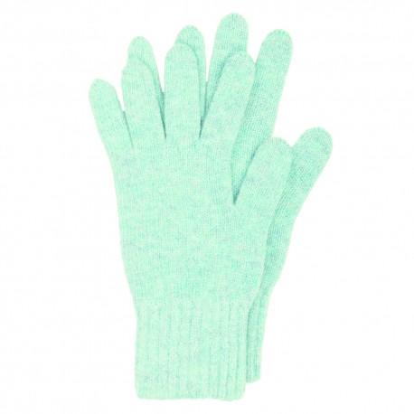 Lyseblå strikkede handsker i lambswool