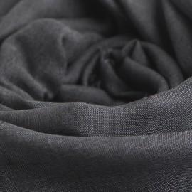 Mørkegråt pashminasjal i cashmere og silke