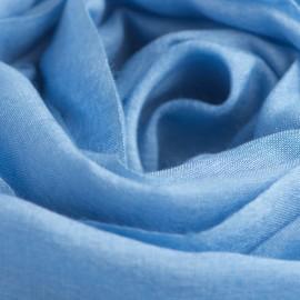 Himmelblåt pashminasjal i cashmere og silke