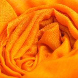 Orange pashminasjal i cashmere og silke