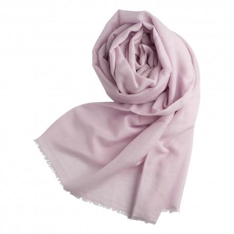 Lavendelfarvet pashminasjal i cashmere/silke