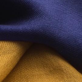 Tofarvet pashmina tørklæde i navy/gylden