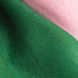 Tofarvet pashmina tørklæde i mørkegrøn/rosa