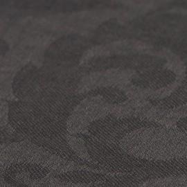 Mørkegråt jacquard vævet pashmina sjal
