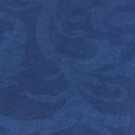 Mørkeblåt jacquard vævet pashmina sjal