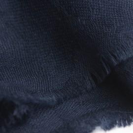 Marineblåt jacquard vævet pashmina sjal